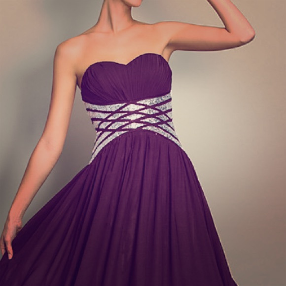 Dresses   Dark Purple Evening Gown For A Wedding Or Prom   Poshmark